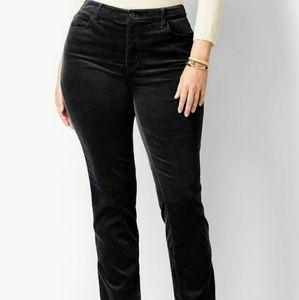 Talbots black velvet pants